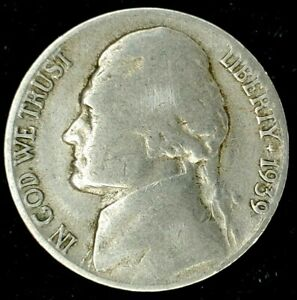 1939 S 5C JEFFERSON NICKEL 20LTH0422 70 CENTS SHIPPING
