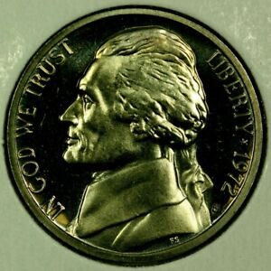 1972 S 5C JEFFERSON NICKEL GEM PROOF 20RR0722 70 CENTS SHIPPING