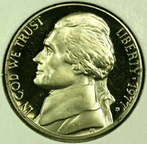 1977 S 5C JEFFERSON NICKEL GDC PROOF 20RR0722 70 CENTS SHIPPING