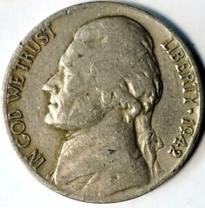 1942 D 5C JEFFERSON NICKEL 20CW0214 70 CENTS SHIPPING