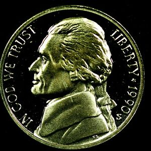 1990 S 5C JEFFERSON NICKEL GDC PROOF 20RR0722 70 CENTS SHIPPING