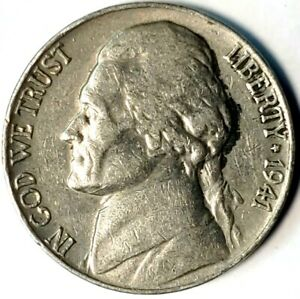 1941 P 5C JEFFERSON NICKEL 20CW0214 70 CENTS SHIPPING