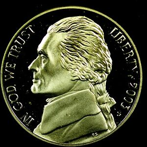2003 S 5C JEFFERSON NICKEL GDC PROOF 20RR0722 70 CENTS SHIPPING