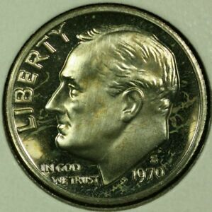 1970 S 10C ROOSEVELT DIME GDC PROOF CLAD 20OR1020 2 70 CENTS SHIPPING
