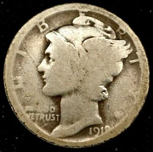 1918 D 10C MERCURY DIME 90  SILVER 20OLC0820 70 CENTS SHIPPING