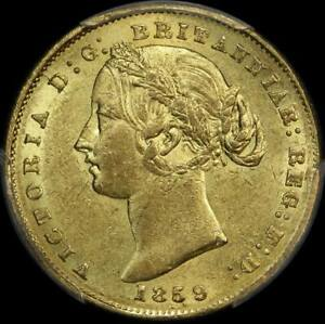 Click now to see the BUY IT NOW Price! 1859 SYDNEY MINT TYPE II SOVEREIGN ABOUT UNC  PCGS AU58