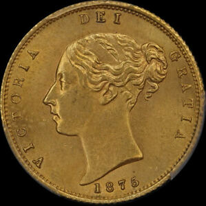 Click now to see the BUY IT NOW Price! 1875 SYDNEY YOUNG HEAD HALF SOVEREIGN CHOICE UNC  PCGS MS63