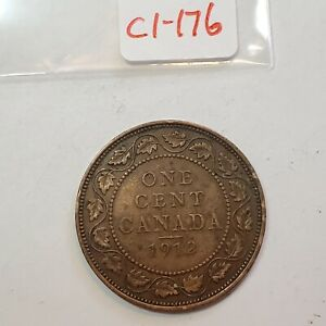 1912 CANADA 1 ONE CENT LARGE PENNY   COMBINED SHIPPING   C1 176