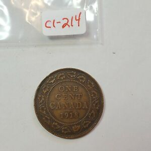 1918 CANADA 1 ONE CENT LARGE PENNY   COMBINED SHIPPING   C1 214