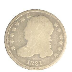 1831 CAPPED BUST SILVER DIME  GOOD DETAILS P520