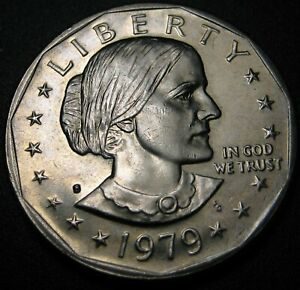 1979 S SUSAN B. ANTHONY $1   DOUBLING OF SOME LETTERS ON REVERSE  A