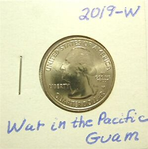 2019 W WAR IN THE PACIFIC GUAM ATB QUARTER UNCIRCULATED   NICE