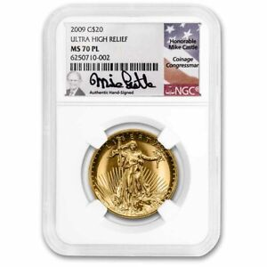 Click now to see the BUY IT NOW Price! 2009 ULTRA HIGH RELIEF DOUBLE EAGLE MS 70 PL NGC  MIKE CASTLE    SKU230865