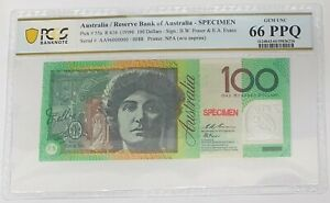 Click now to see the BUY IT NOW Price! AUSTRALIA 1996 . 100 DOLLARS BANKNOTE . SPECIMEN . PCGS GRADED GEM UNC