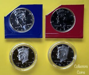2013 KENNEDY HALF PDSS SET WCLAD & SILVER PROOFS IN AIR TIGHT HOLDERS & MINT PD