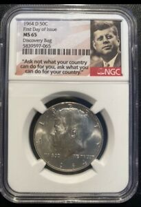 Click now to see the BUY IT NOW Price! 1964D  KENNEDY HALF FDOI MS65. ONLY 4 IN A BETTER GRADE