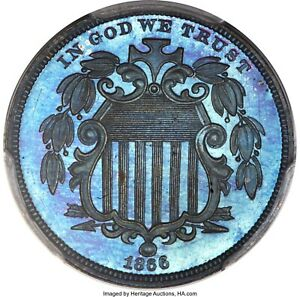 Click now to see the BUY IT NOW Price! 1866 5C SHIELD NICKEL JUDD 509 POLLOCK 592 HIGH R.6 PR66 BROWN PCGS