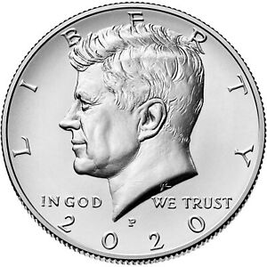 2020 P & D KENNEDY HALF DOLLAR UNCIRCULATED FROM US MINT BAG SET OF 2 COINS
