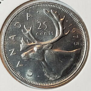 1975 CANADA 25 TWENTY FIVE CENTS   COMBINED SHIPPING   C25 163