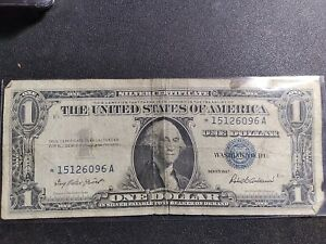 1957 $1 SILVER CERTIFICATE STAR ERROR REPLACEMENT NOTE.