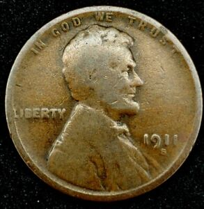 1911 S 1C LINCOLN WHEAT CENT KEY DATE 20LACT1026 1