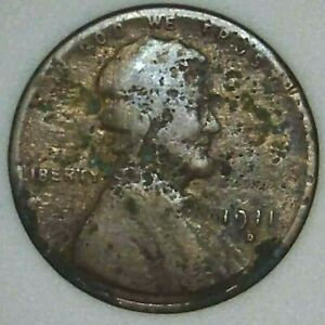 1911 D 1C LINCOLN WHEAT CENT 21LSU0523 70 CENTS SHIPPING