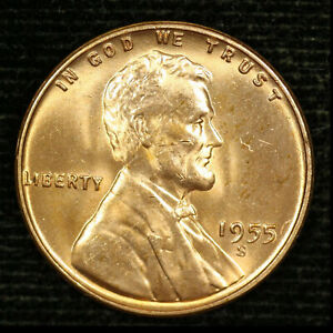 1955 S 1C LINCOLN WHEAT CENT BU 20OR1020 3 70 CENTS SHIPPING