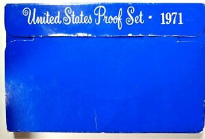 1971 S US PROOF MINT SET 5 COINS CLAD 18UTH1226