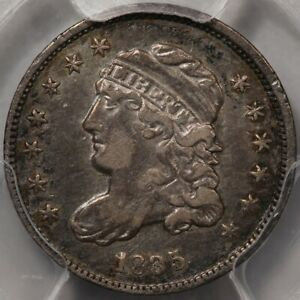 1835 CAPPED BUST HALF DIME  SMALL DATE SMALL 5C  PCGS XF 40