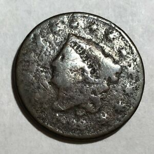 1832 CORONET HEAD COPPER US LARGE CENT POOR. ND1