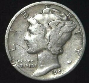 1941 P 10C MERCURY DIME 90  SILVER 21OOL0325 70 CENTS SHIPPING