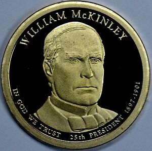 2013 S PRESIDENTIAL DOLLAR WILLIAM MCKINLEY GDC PROOF 70 CENTS SHIPPING