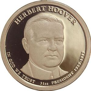 2014 S PRESIDENTIAL DOLLAR HERBERT HOOVER GDC PROOF 70 CENTS SHIPPING