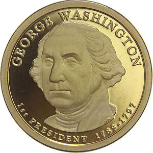 2007 S PRESIDENTIAL DOLLAR GEORGE WASHINGTON GDC PROOF 70 CENTS SHIPPING