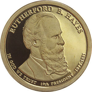 2011 S PRESIDENTIAL DOLLAR RUTHERFORD B HAYES GDC PROOF 70 CENTS SHIPPING