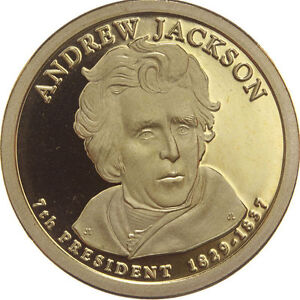 2008 S PRESIDENTIAL DOLLAR ANDREW JACKSON GDC PROOF 70 CENTS SHIPPING