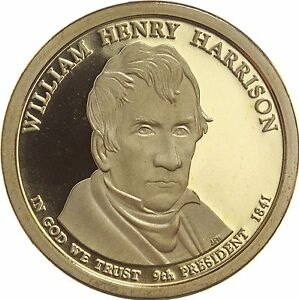 2009 S PRESIDENTIAL DOLLAR WILLIAM H HARRISON GDC PROOF 70 CENTS SHIPPING