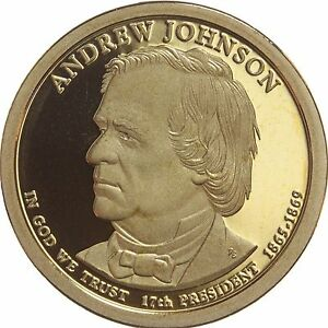 2011 S PRESIDENTIAL DOLLAR ANDREW JOHNSON GDC PROOF 70 CENTS SHIPPING