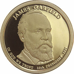 2011 S PRESIDENTIAL DOLLAR JAMES GARFIELD GDC PROOF 70 CENTS SHIPPING