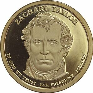 2009 S PRESIDENTIAL DOLLAR ZACHARY TAYLOR GDC PROOF 70 CENTS SHIPPING