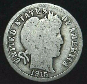 1915 P 10C BARBER DIME 90  SILVER 21OCC0726 3 70 CENTS SHIPPING