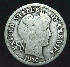 1916 P 10C BARBER DIME 90  SILVER 21OCC0726 1 70 CENTS SHIPPING