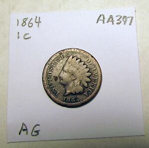 1864 INDIAN HEAD CENT PENNY C00024