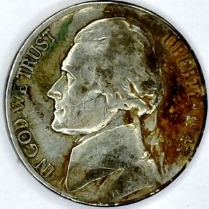 1942 S 5C JEFFERSON WAR NICKEL 35  SILVER 19RR0912 70 CENTS SHIPPING