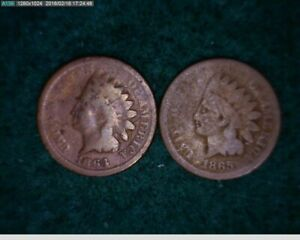 1864 1865 INDIAN CENT PENNY   70 151 8M1