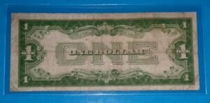 1928 A $1 SILVER CERTIFICATE   FUNNY BACK  F. CIRC. COND  OLD US CURRENCY
