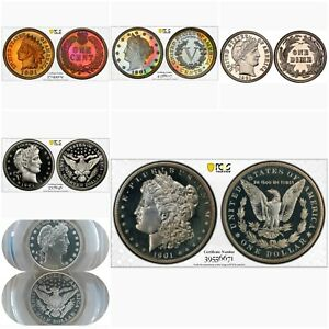 Click now to see the BUY IT NOW Price! 1901 2 ALL TIME PCGS PROOF REGISTRY SET.  THE