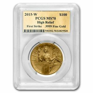 Click now to see the BUY IT NOW Price! 2015 W HIGH RELIEF AMERICAN LIBERTY GOLD MS 70 PCGS  FS GOLD LAB    SKU206161