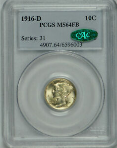 Click now to see the BUY IT NOW Price! 1916 D MERCURY DIME MS 64 FULL BANDS PCGS  CAC VERIFIED
