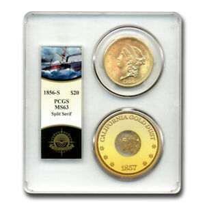 Click now to see the BUY IT NOW Price! 1856 S $20 LIBERTY GOLD DOUBLE EAGLE MS 63 PCGS  SS CEN. AMERICA    SKU226085